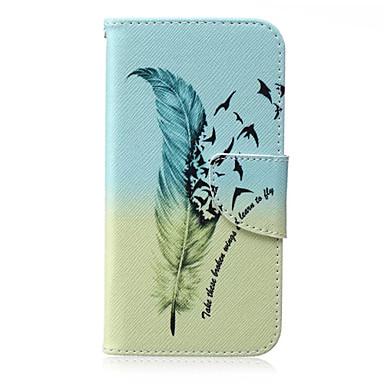 Voor Samsung Galaxy hoesje Portemonnee / Kaarthouder / met standaard / Flip hoesje Volledige behuizing hoesje Veer PU-leer SamsungJ7 / J5
