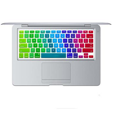 regenboog helder ontwerp siliconen toetsenbord cover skin voor macbook air 13.3, MacBook Pro met Retina 13 15 17 ons lay-out