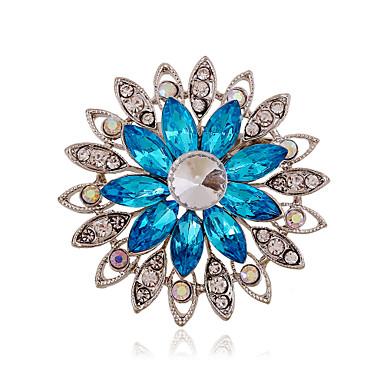 Dames Strass / Gesimuleerde diamant - Luxe / Modieus / Europees Paars / Koffie / Blauw Broche Voor Bruiloft / Feest / Dagelijks