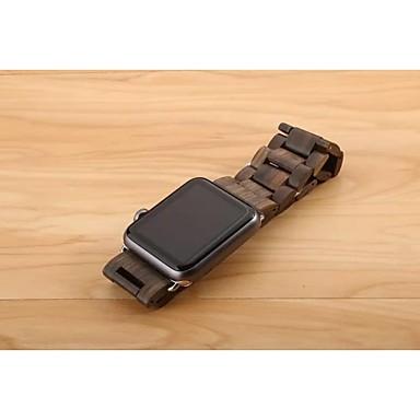 Horlogeband voor Apple Watch Series 3 / 2 / 1 Apple Butterfly Buckle Hout Polsband