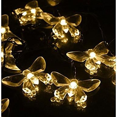 king ro 40led kristallen vlinder batterij string verlichting voor buiten tuinen huizen huwelijk