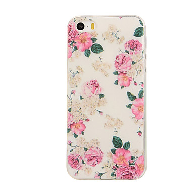 Case For iPhone 5 Apple iPhone 5 Case Pattern Back Cover Flower Soft TPU for iPhone SE/5s iPhone 5