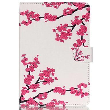 pruimenbloesem folio lederen staan beschermhoes met standaard voor de iPad mini 4
