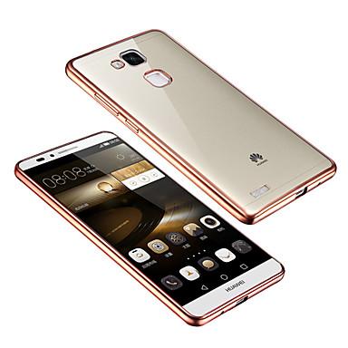 galvaniseren transparante luxe TPU zachte hoes voor Huawei mate 7 / p8 / eer 6 (diverse kleuren)