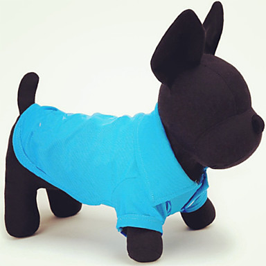 Cat / Dog Shirt / T-Shirt Dog Clothes Solid Colored Green / Blue / Pink Cotton Costume For Pets Summer Men's / Women's Casual / Daily