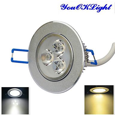 YouOKLight 300 lm Lâmpada de Teto 3 leds LED de Alta Potência Regulável Decorativa Branco Quente Branco Frio AC 110-130V AC 220-240V