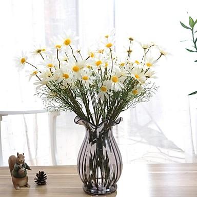 Kunstbloemen 1 Tak Moderne Style Madeliefjes Bloemen voor op tafel