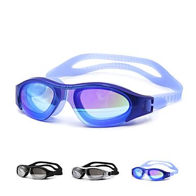 Óculos de Natação Prova-de-Água silica Gel PC Branco Preto Azul Verde Preto Azul Dourado Prateado