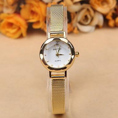 Mulheres Quartzo Relógio de Pulso Relógio Casual Lega Banda Elegant / Fashion Preta / Branco / Marrom