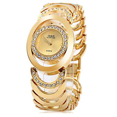 Mulheres Quartzo Bracele Relógio Relógio Casual Aço Inoxidável Banda Elegant Fashion Prata Dourada
