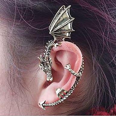 ieftine Cercei-Cătușe pentru urechi Căști de cățărare Cercei cu spirală Manşetă Balaur Ieftin femei Vintage Gotic cercei Bijuterii Argintiu / Auriu Pentru Halloween Zilnic Casual