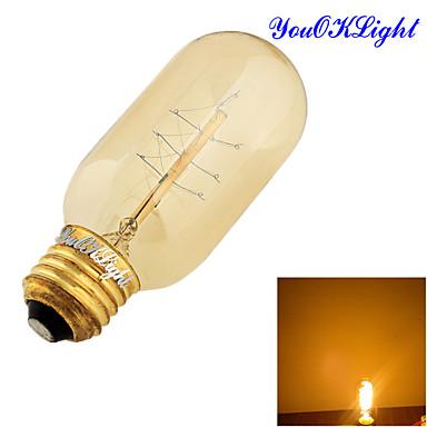 E26/E27 Lâmpada Redonda LED B 1 COB 400 lm Branco Quente 3000 K Decorativa AC 220-240 AC 110-130 V