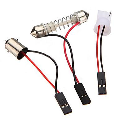 10 pcs 3528 SMD conduziu o painel de 48 branco quente levou luz + t10 / módulo BA9S + ponta dupla (DC 12V)