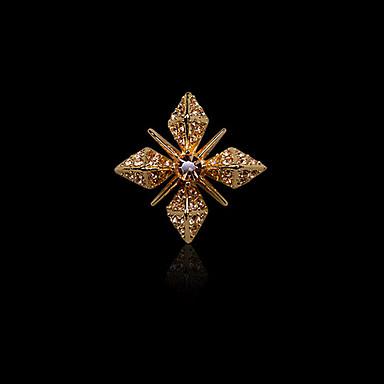 Homens Feminino Strass imitação de diamante Liga Moda Prata Dourado Jóias Casamento Festa Diário Casual