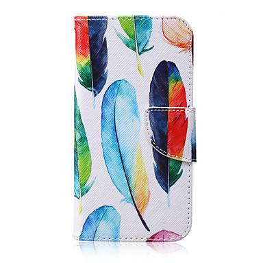 Para Samsung Galaxy Capinhas Carteira / Porta-Cartão / Com Suporte / Flip Capinha Corpo Inteiro Capinha Pena Couro PU SamsungJ7 / J5 / J3