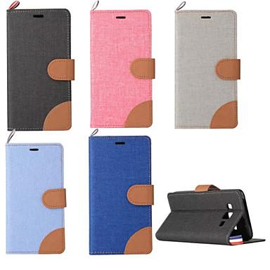 Voor Samsung Galaxy hoesje Kaarthouder / met standaard / Flip hoesje Volledige behuizing hoesje Effen kleur PU-leer SamsungJ3 / J2 / J1