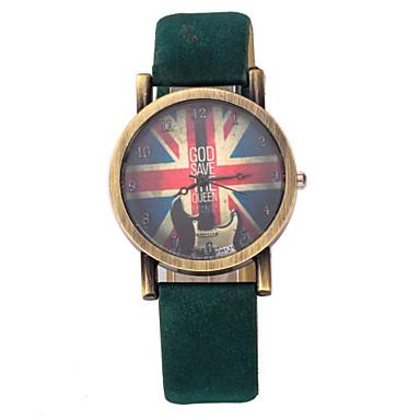 Dames Modieus horloge Kwarts PU Band Vintage Zwart Blauw Rood Bruin Groen Paars Geel Geel Bruin Rood Groen Blauw
