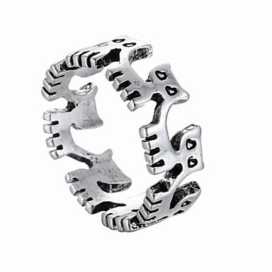 Anéis Pesta / Diário / Casual Jóias Liga Feminino / Masculino Anéis Statement 1pç,Tamanho Único Prateado