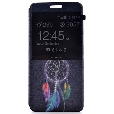 Capinha Para Samsung Galaxy Samsung Galaxy Capinhas Com Suporte com Visor Flip Estampada Corpo Inteiro Apanhador de Sonhos Couro Ecológico