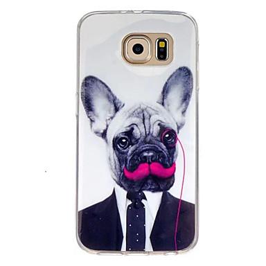 Voor Samsung Galaxy hoesje Patroon hoesje Achterkantje hoesje Hond TPU Samsung S7 / S6 edge / S6