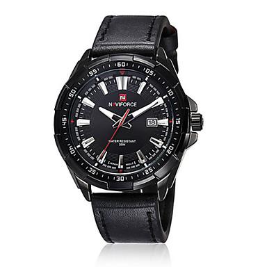 זול שעוני גברים-בגדי ריקוד גברים שעון יד קווארץ קוורץ יפני עור שחור / חום 30 m עמיד במים לוח שנה אנלוגי קלסי - 2# 3# 4# / מתכת אל חלד