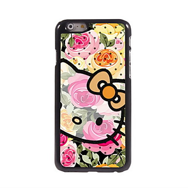 Para Capinha iPhone 6 Capinha iPhone 6 Plus Case Tampa Estampada Capa Traseira Capinha Desenho Animado Rígida Metal para iPhone 6s Plus