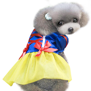Hond kostuums Jurken Hondenkleding Schattig Cosplay Strik Geel