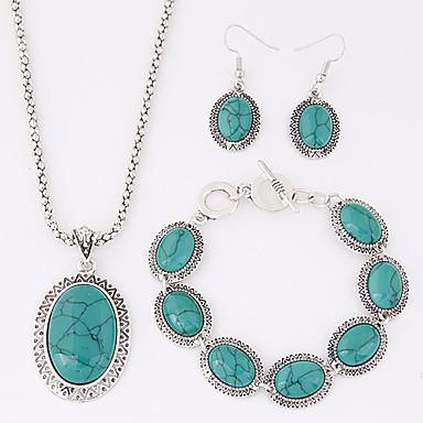 ieftine Seturi de Bijuterii-Pentru femei Turcoaz Seturi de bijuterii femei Lux European stil vestic Elizabeth Locke Reșină Turcoaz cercei Bijuterii Rosu / Albastru Pentru Petrecere Zilnic Casual / Cercei / Coliere / Brățară