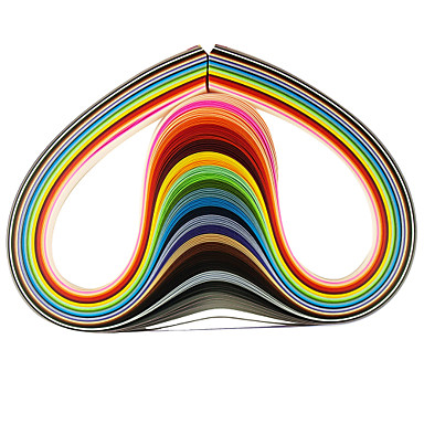 120pçs 5mmx53cm papel (X5 pçs 24 cor / cor) ofício diy arte decoração