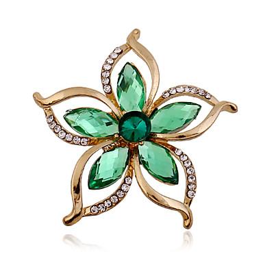 Dames Broches Acryl Strass imitatie Diamond Modieus Groen Sieraden Bruiloft Feest Speciale gelegenheden  Verjaardag Dagelijks