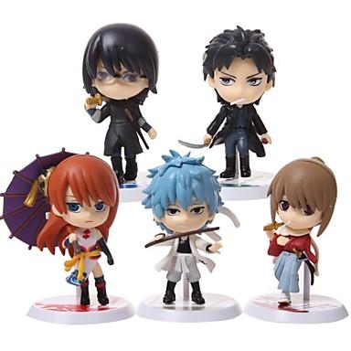 Figuras de Ação Anime Inspirado por Gintama Fantasias PVC 6.5cm CM modelo Brinquedos Boneca de Brinquedo