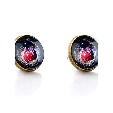Beszúrós fülbevalók minimalista stílusú Galaxis Szintetikus drágakövek Üveg Ötvözet Ékszerek Esküvő Parti Napi Hétköznapi