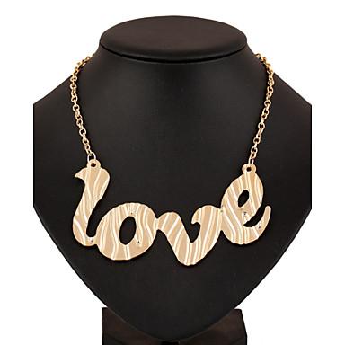 Γυναικεία Κρεμαστά Κολιέ Alphabet Shape Κράμα Love Φούντες Πανκ Στυλ Euramerican Κοσμήματα Για Γάμου Πάρτι Γενέθλια Αρραβώνας Καθημερινά