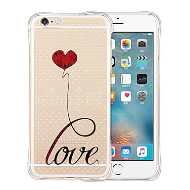 Case Kompatibilitás Ütésálló Átlátszó Minta Hátlap Szív Puha Szilikon mert iPhone 6s Plus iPhone 6 Plus iPhone 6s iPhone 6