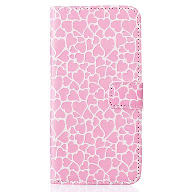 Para Samsung Galaxy Capinhas Carteira / Porta-Cartão / Com Suporte / Flip Capinha Corpo Inteiro Capinha Coração Couro PU SamsungJ5 (2016)