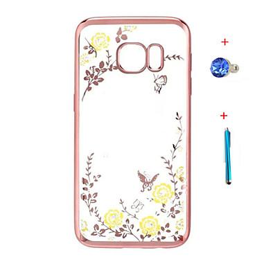 케이스 제품 Samsung Galaxy 크리스탈 도금 투명 패턴 뒷면 커버 꽃장식 하드 TPU 용 Note 5 Note 4 Note 3