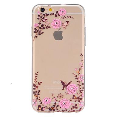 Voor iPhone 6 iPhone 6 Plus Hoesje cover Transparant Patroon Achterkantje hoesje Bloem Zacht TPU voor iPhone 6s Plus iPhone 6 Plus iPhone