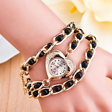 Bayanların Spor Saat Elbise Saat Moda Saat Bilek Saati Çince Quartz Alaşım Bant İhtişam Günlük Yaratıcı Çok-Renkli Beyaz Siyah Kırmzı