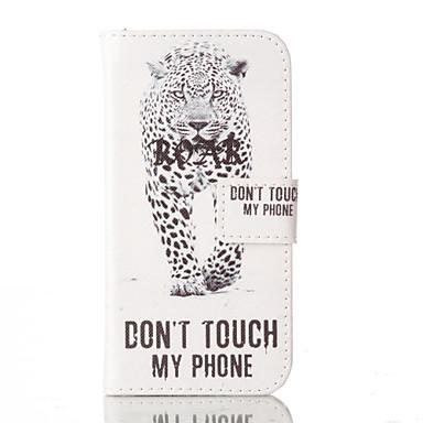 케이스 제품 iPhone 5 아이폰5케이스 카드 홀더 스탠드 플립 전체 바디 케이스 단어 / 문구 하드 PU 가죽 용 iPhone SE/5s iPhone 5