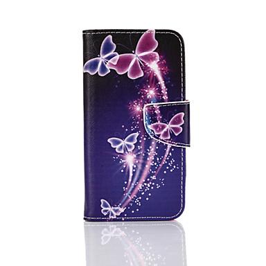Kompatibilitás Samsung Galaxy tok tokok Kártyatartó Pénztárca Állvánnyal Flip Minta Teljes védelem Case Pillangó Műbőr Bőr mert Samsung S7