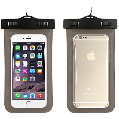 voordelige iPhone 6 Plus hoesjes-hoesje Voor iPhone 7 / iPhone 6s Plus / iPhone 6 Plus Waterbestendig / met venster Buideltas Effen Zacht PC