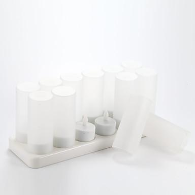 12 포트 충전기 2.4V의 120mah의 0.15W 12 개 촛불 모양 밤 램프