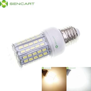 SENCART 8 W 3000-3500/6500-7500 lm E14 GU10 E26/E27 E26 B22 LED kukorica izzók Süllyesztett 102 led SMD 5630 Vízálló Dekoratív Meleg