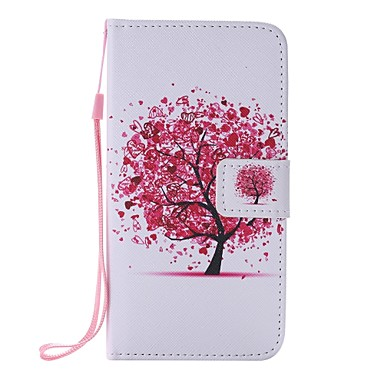 Para Samsung Galaxy Capinhas Carteira / Porta-Cartão / Com Suporte / Flip Capinha Corpo Inteiro Capinha Árvore Couro PU Samsung J5 (2016)
