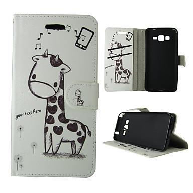 용 삼성 갤럭시 케이스 카드 홀더 / 지갑 / 스탠드 / 플립 케이스 풀 바디 케이스 동물 인조 가죽 Samsung Trend Duos / J5 / J1 / Grand Prime