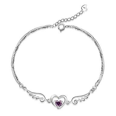 Dames Armbanden met ketting en sluiting Verzilverd Liefde Wit Paars Sieraden Voor Bruiloft Kerstcadeaus 1 stuks