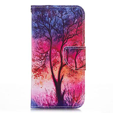 용 삼성 갤럭시 케이스 카드 홀더 / 지갑 / 스탠드 / 플립 / 패턴 케이스 풀 바디 케이스 나무 인조 가죽 Samsung S5