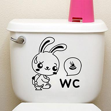 kreatív kis nyúl WC matricák