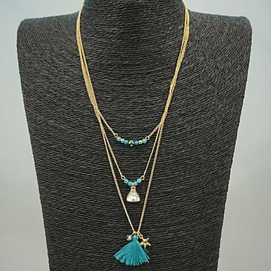 Női Rojt / Perlice Rakott nyakláncok - Bojt Kék Nyakláncok Kompatibilitás