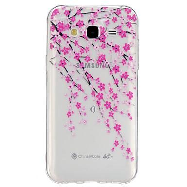 Para Samsung Galaxy Capinhas Transparente / Estampada Capinha Capa Traseira Capinha Flor TPU Samsung J5